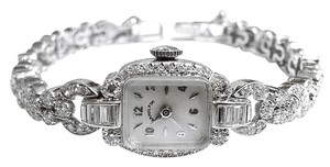 Hamilton HAMILTON Vintage Platinum Watch with 128 Diamonds ,With Mechanical Movement