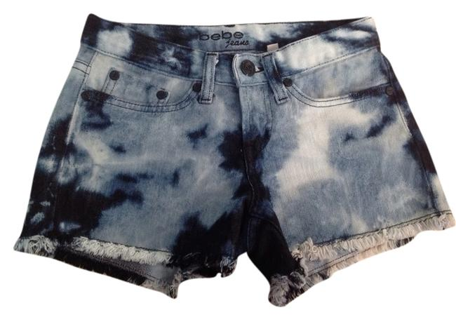 Bebe Shorts Multi Shades of Blue With White