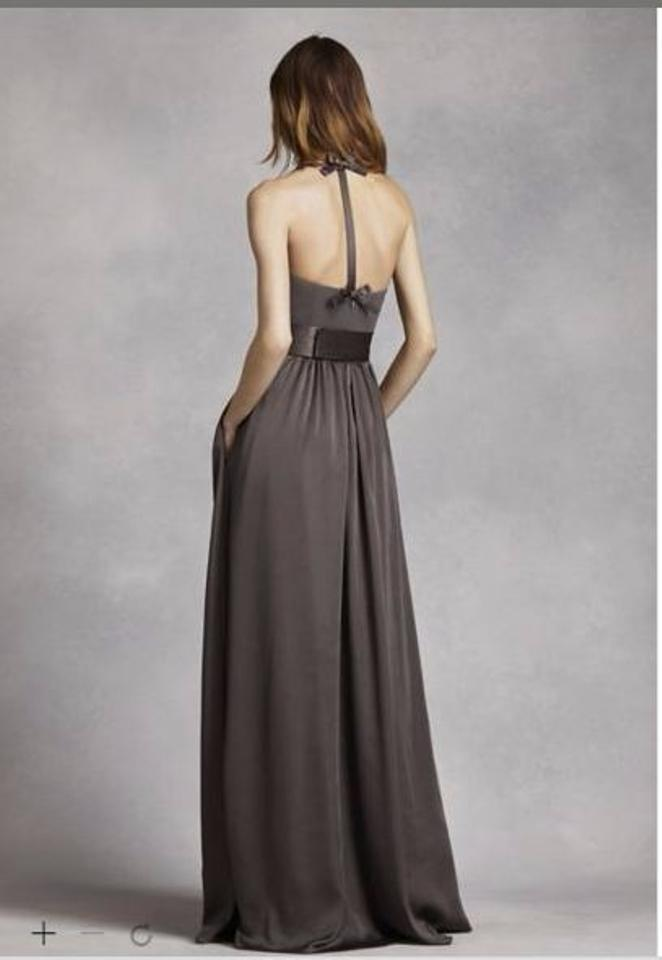 9bebac53d4 White by Vera Wang Forest Soft Charmeuse V Neck Halter Gown with Sash- vw360214 Formal. 1234