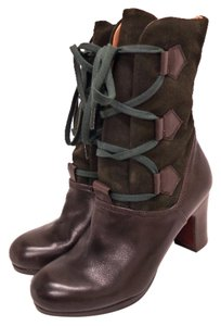 Chie Mihara Tria Boutique Dress Trendy Dressy Designer Discount Sale Fashion Affordable Womens Designer Lover Pompeia Mid Heel Brown Boots