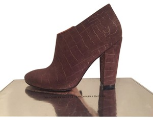 Sigerson Morrison Brown Chunky Heel Boots