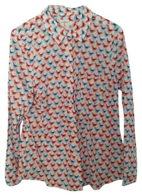 Gap Button Down Shirt Pink and Coral