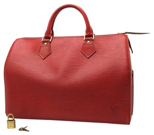 Louis Vuitton Speedy Speedy Epi Red Clutch