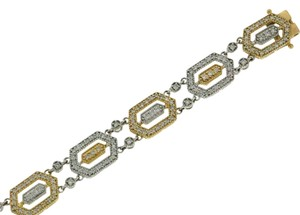 BEST PRICE ON TRADESY - 14k gold 2.4 carats tw diamond hexagonal link bracelet