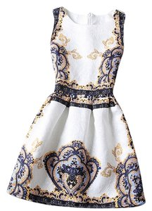 Other short dress Ivory ,Blue Imperial Crown on Tradesy