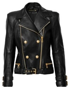 Balmain x H&M Blac Leather Jacket