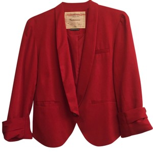 Anthropologie Red Blazer