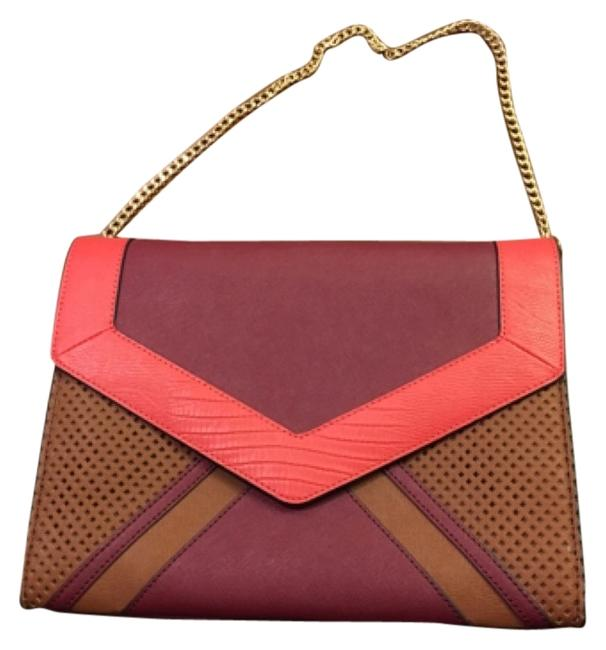 Item - Envelope Multicolor Leather Clutch