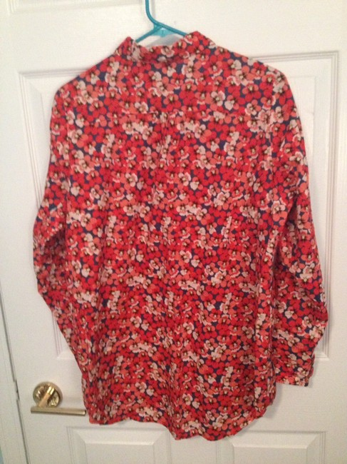 Divided by H&M Button Down Shirt Red Floral