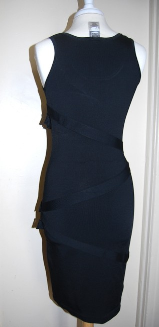 Hervé Leger Rayon Sleeveless Bodycon Dress