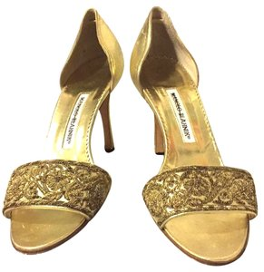 Manolo Blahnik golden Formal