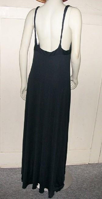 Solid Black Maxi Dress by Carilyn Vaile Night Out Cocktail Black A-line Party Upscale Boutique Twist Straps V-neck Sz 12 Sz 14 Special Occasion Designer