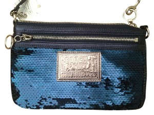 Coach Authentic Coach Poppy Sequin Large Wristlet