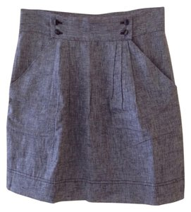BCBGeneration Mini Skirt Gray Linen