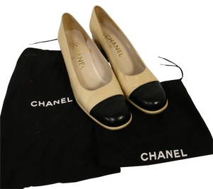 Chanel Cambon Jumbo Quilted Beige Pumps