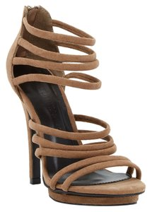 Wild Diva Strappy Taupe Sandals