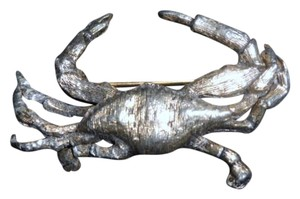 Vintage Silver Plated Crab Pin