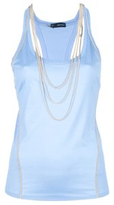DSquared Racer-back Gold Top Light Blue