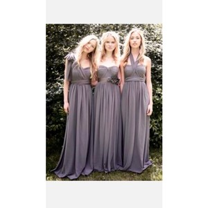 David's Bridal Pewter Grey Formal Bridesmaid/Mob Dress Size 8 (M)