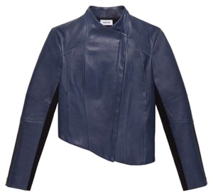 Helmut Lang Blue Leather Jacket