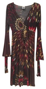 Missoni short dress Brown red and yellow on Tradesy