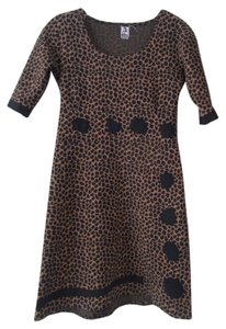 AMP stretch leopard dot dress sz S M Dress
