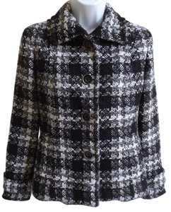 Chico's Chico Chicos Tweed Black, White, Grey and Silver Blazer