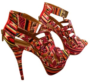 Dollhouse Multi-colored Hot Pink Platforms