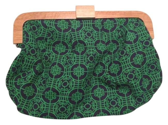 Item - Blue and Green Cotton Clutch