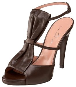 Alexandra Neel T-strap Leather Dark Brown Sandals