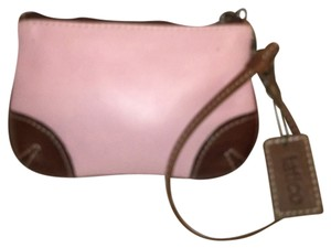 Latico Leather Clutch Pink Wristlet in Pink, Brown