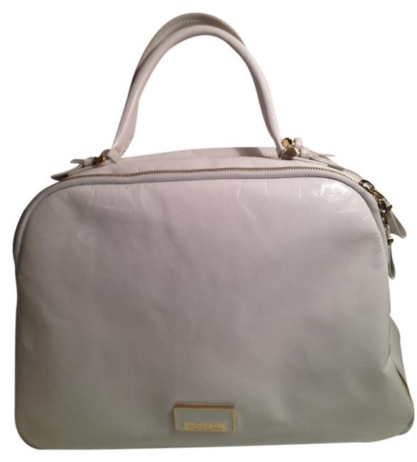 Item - Bowling Keepall Speedy Boston White Cow Leather Weekend/Travel Bag