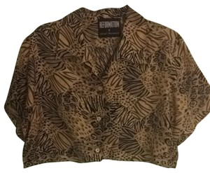 Urban Renewal Top Animal Print, Brown