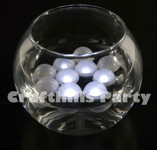White 24 Pcs Led Fairy Mini Glowing Waterproof Floating Ball Light For Party Floral Reception Decoration