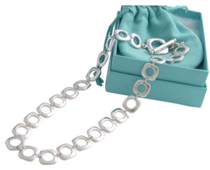 Tiffany & Co. Tiffany & Co SS Cushion Cut Necklace