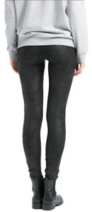 Guess Faux Leather Textured Sleek Black Leggings