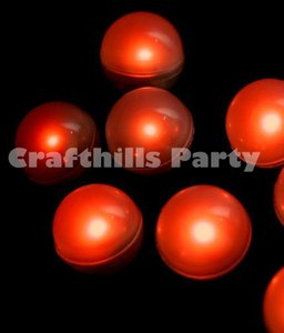 Red 24 Pcs Led Fairy Mini Glowing Waterproof Floating Ball Light For Party Floral Reception Decoration