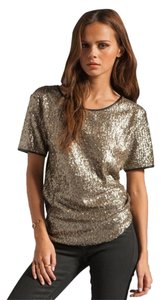 Lovers + Friends + Sequin Top gold