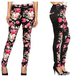Fashion Envy Pink & Black Leggings