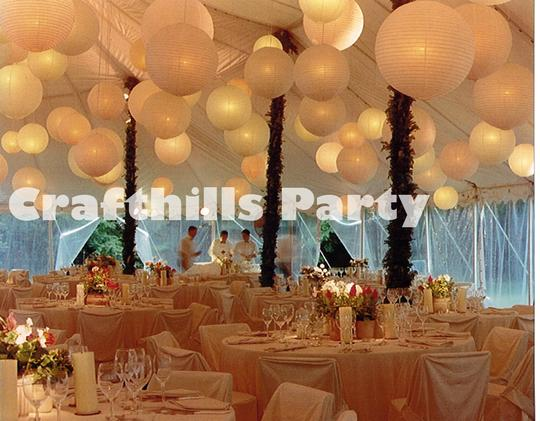 "24x 10"" With Led Lights White Chinese Round Paper Lanterns With White Led Light For Wedding Floral Centerpiece Party"