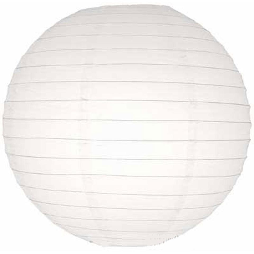 White 30 Mix Size Paper Lanterns with Led Lights - Chinese Round For ...