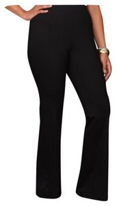 INC International Concepts Plus Size Curvy Professional Women Slimming Trouser Pants Black