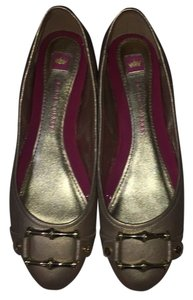 Elaine Turner Elaine Leather Buckle Gold Flats