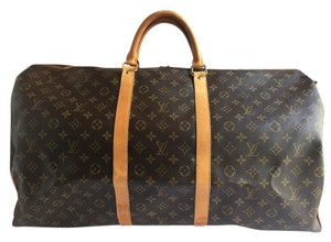Louis Vuitton Keepall Bandouliere 60 Monogram Canvas Weekend Travel Keepall Bandouliere Keepall 60 Keepall Bandouliere 60 Brown Travel Bag