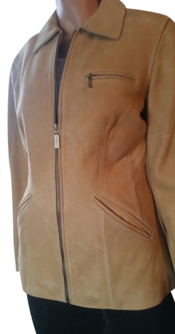 Item - Camel Tailored Color Jacket Size 4 (S)