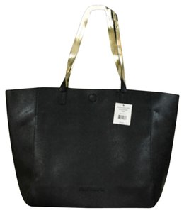 Perfumania Purse Black Gold Tote in Black/Gold