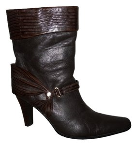Worthington Leather Reptile brown Boots