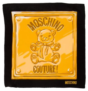 Moschino MOSCHINO Teddy Bear Moschino Couture Crepe Silk Scarf