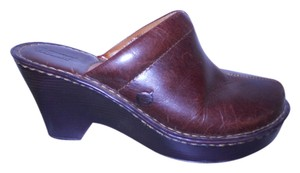 Børn Leather Wedge brown Mules