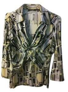 Essentials by Milano Top Multi- Black, white, hints if pale yellow